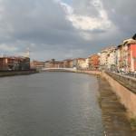 Fiume Arno Floden Pisa