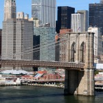 Brooklyn Bridge fra Manhatten